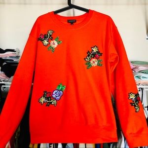 Sweatshirt with floral print (size S)